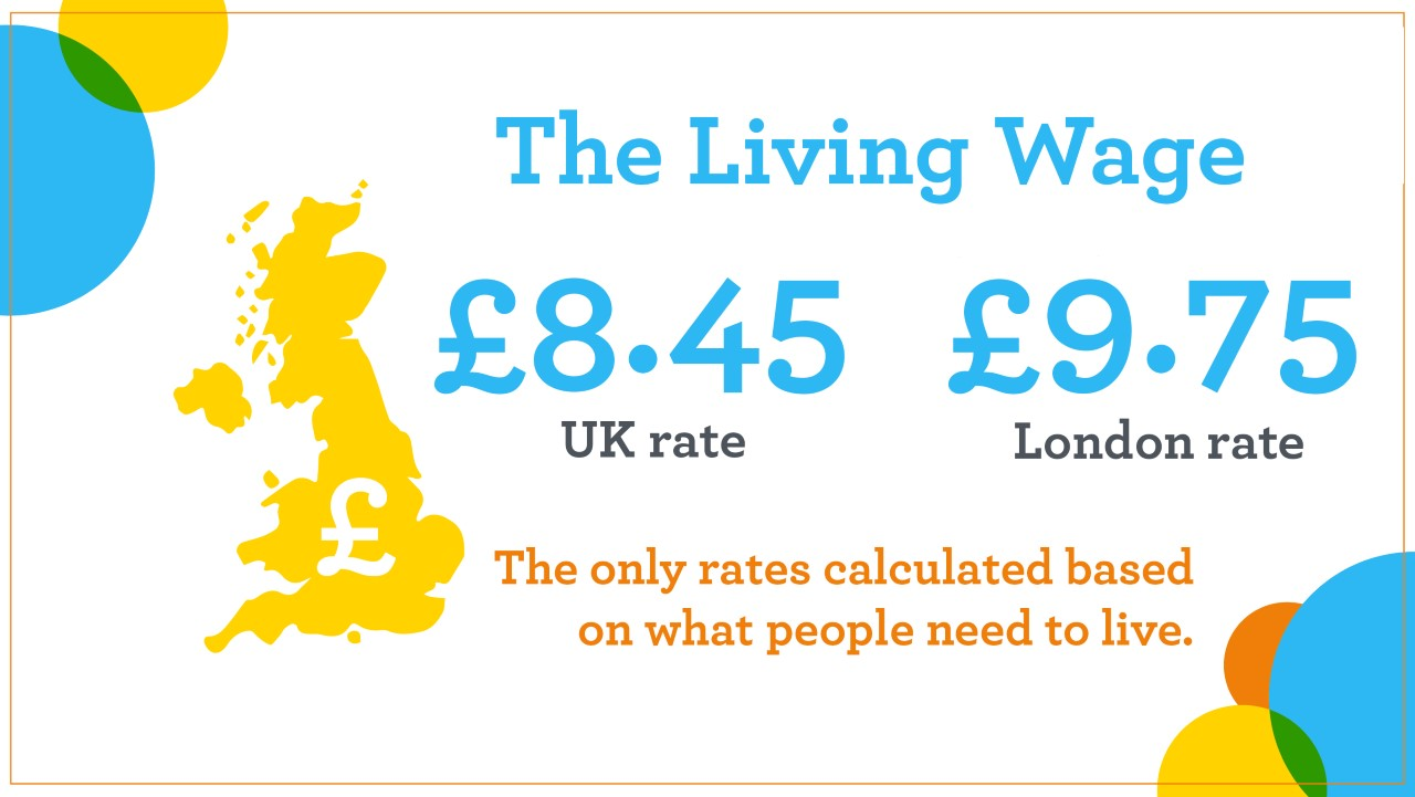 NEW REAL LIVING WAGE RATES ANNOUNCED FOR LONDON THE UK Living - Living wages in the us map